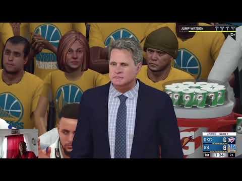 NBA2K18 PLAYOFFS AGAINST GOLDEN STATE GAME 1 JUMPWATSON45!