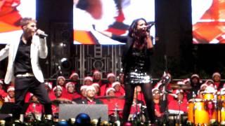 Savvy Singing 'Christmas Time Again' at Houston's Christmas Tree Lighting