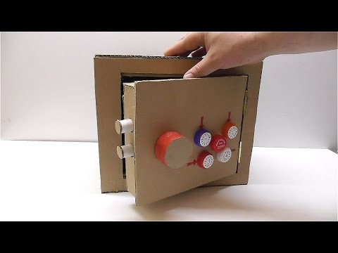 Сейф из картона Как сделать сейф из картона