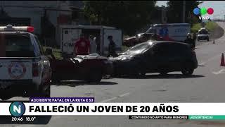 Un joven de 20 años falleció en un accidente de tránsito