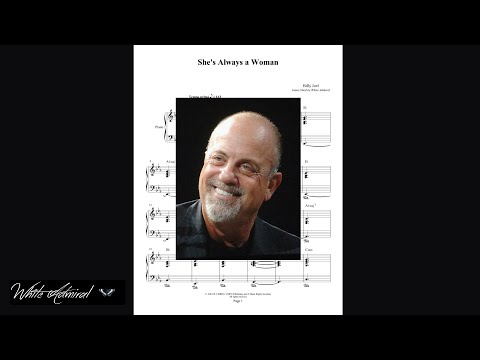 Shes Always A Woman Billy Joel Piano Accompaniment Youtube