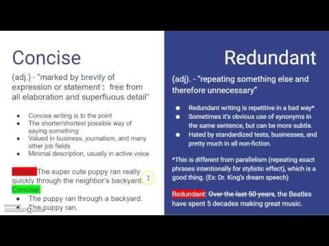 redundancy in writing Writing commons,  , helps students improve their writing, critical thinking, and information literacy founded in 2008 by joseph m moxley, writing commons is a viable alternative to expensive writing textbooks faculty may assign writing commons for their composition, business, technical, and creative writing courses.