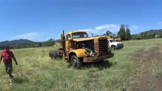 1956 Detroit 6 71 powered FWD truck moving for first time in 2 years