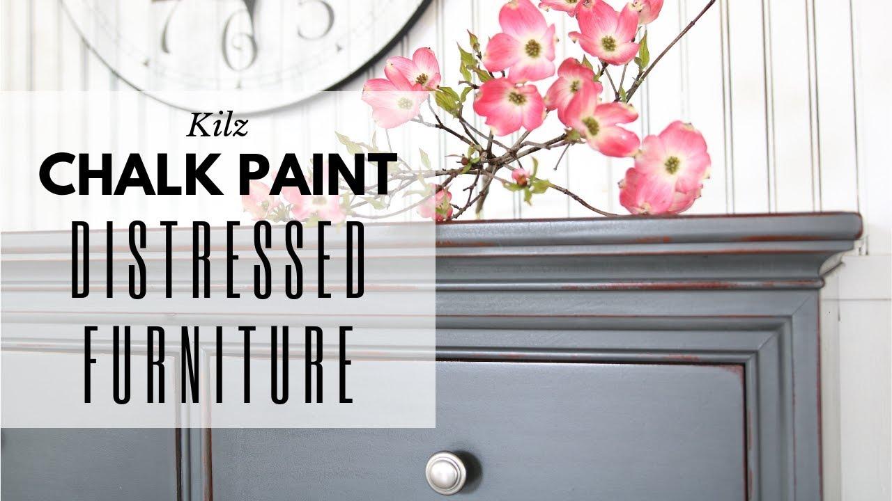 Distressed Furniture Chalk Paint Tutorial Annie Sloan Wax Dresser Makeover