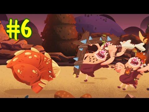 ДИНОЗАВРЫ ПРОТИВ ЛЮДЕЙ [6] Мультик игра для детей про динозавров Игра Dino Bash