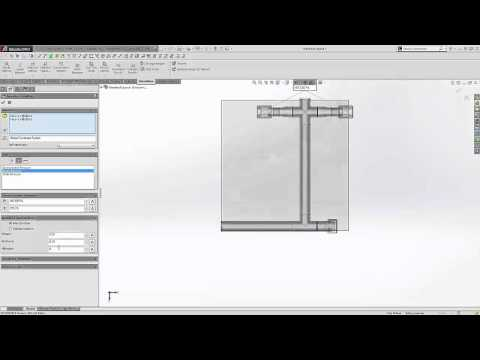 SOLIDWORKS - Flow Simulation, Flow in a Piping System