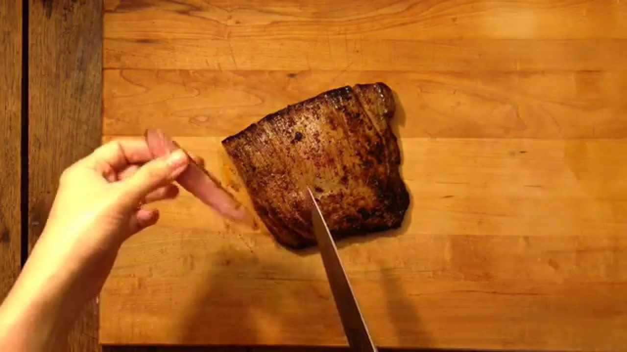How To Cut Meat Against The Grain Cooking Light Youtube