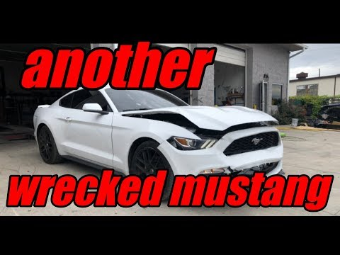Rebuilding a wrecked 2017 mustang part 1