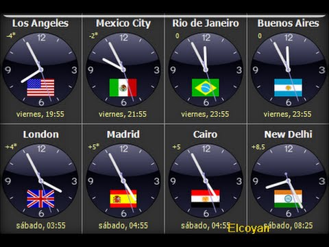 079bbf18d4eb Reloj Mundial en android (hora internacional) - YouTube