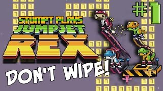 Stumpt Plays - Jumpjet Rex - #1 - Don't Wipe! (4 Player Gameplay)