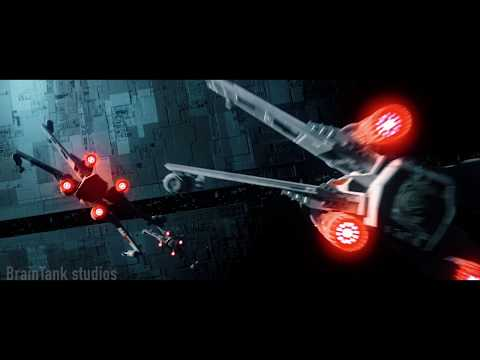 star wars fan film: star wars trench run test: 3d animation: disney sucks