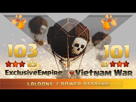 Clash of clans | Exclusive Empire vs Vietnam War | 23:21