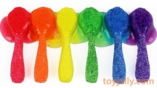 How To Make Colors Spoon Foam Clay with Colors Bent Spoon Pudding Recipe Nursery Rhymes