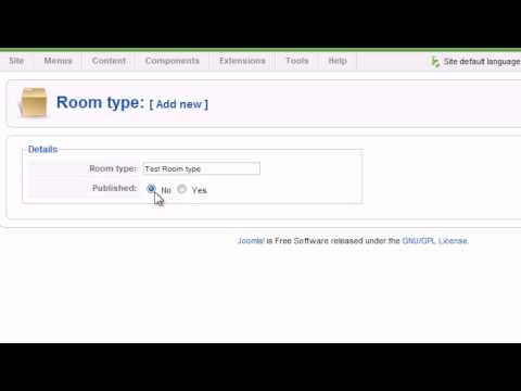 Room Type - Joomla Hotel Booking - Property Management System