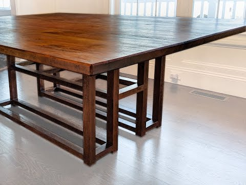DIY modern/rustic dining table