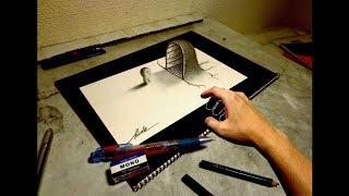 Speed Drawing【24】- How to draw 3D ART - 3Dアートの制作風景