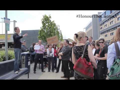 Edinburgh College - EIS-FELA demonstration 21/05/14 #HonourTheContract