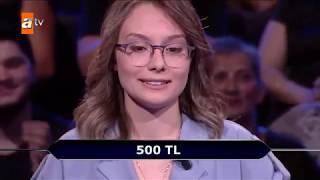 Aylin Dinç - Hacettepe Tıp Öğrencisi 1000TL ile ayrıldı. -Kim Milyoner Olmak İster ATV Video