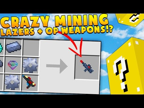 CRAZY MINING LAZERS + OP WEAPONS - MINECRAFT LUCKY BLOCK MONEY HUNT | JeromeASF