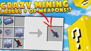 CRAZY MINING LAZERS + OP WEAPONS - MINECRAFT LUCKY BLOCK MONEY HUNT
