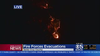Team Coverage: Santa Cruz Mountains Wildfire Prompts Evacuations Near Boulder Creek