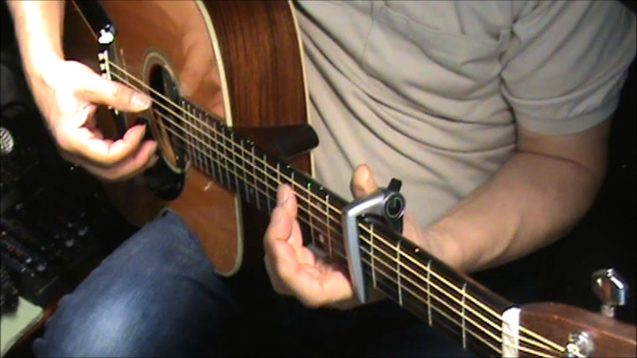 Stuck On You Guitar Chords Fingerstyle Cover Melody Youtube