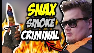 "SNAX W PÓŁFINALE ESL ONE NEW YORK !!! SNAX ""SMOKE CRIMINAL"" CLUTCH 1vs3 - MOUSESPORTS VS GAMBIT !!!"