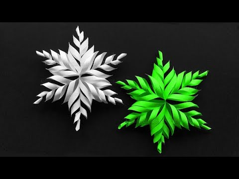 Paper Snowflake ❄ How to make an easy christmas star with paper - DIY Christmas Decor