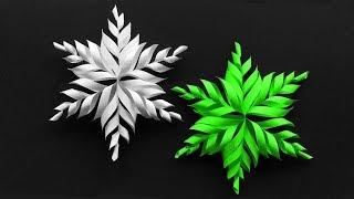 Basteln Weihnachten: Schneeflocken basteln mit Papier ❄ DIY Sterne als Weihnachtsdeko selber machen