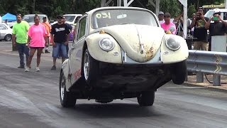 Delbert Crivello VW In/Out Car Video Hilo Hawaii Drag Racing 2013