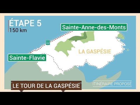 Le tour de la Gaspésie  Étape 5 de SainteAnnedesMonts à SainteFlavie  Québec Maritime