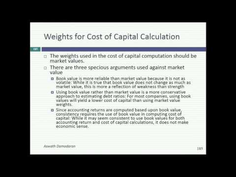 Session 11: Cost of Capital & First Steps in Investment Returns