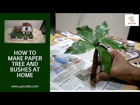 How to Make Paper Tree | Paper Palm Tree | Bushes | School Project