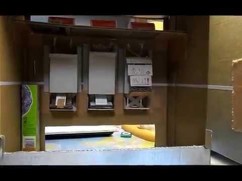 ダンボール自販機作ってみた。(売り切れ表示あり)