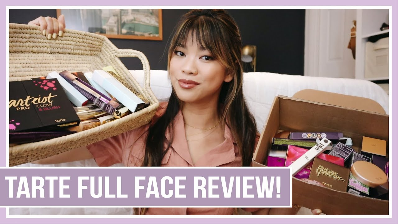 TARTE FULL FACE MAKEUP HONEST REVIEW! Trying out the entire line - first impressions & discount code