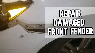 How to repair the front fender after an accident using J-B Weld ClearWeld DIY video | #diy #fender