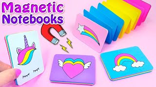 DIY MAGNETIC MINI NOTEBOOKS - DIY BACK TO SCHOOL