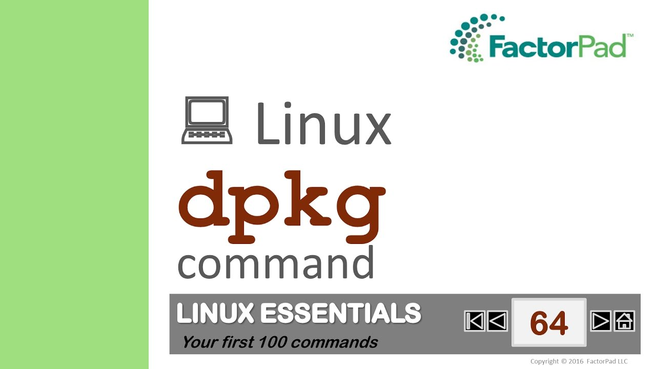 Linux dpkg command summary with examples tutorial | FactorPad