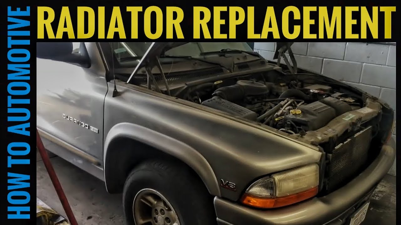 how to replace the radiator on a 1998 2003 dodge durango [ 1280 x 720 Pixel ]