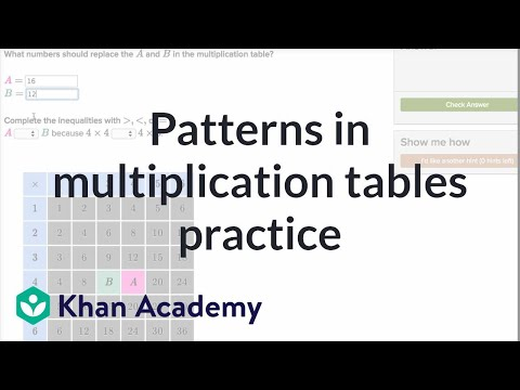 Patterns in multiplication tables practice | Multiplication and division | 3th grade | Khan Academy