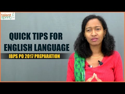 Quick Tips for English Language | IBPS PO 2017 Preparation | TalentSprint