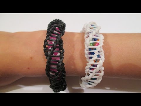 "Rainbow Loom - Spirilla Bracelet (Variation of the ""Frozen"" bracelet by rainbow loom)"