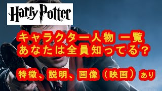 ハリーポッター登場人物の(映画一)覧 全キャラクター (特徴、関係性、画像など
