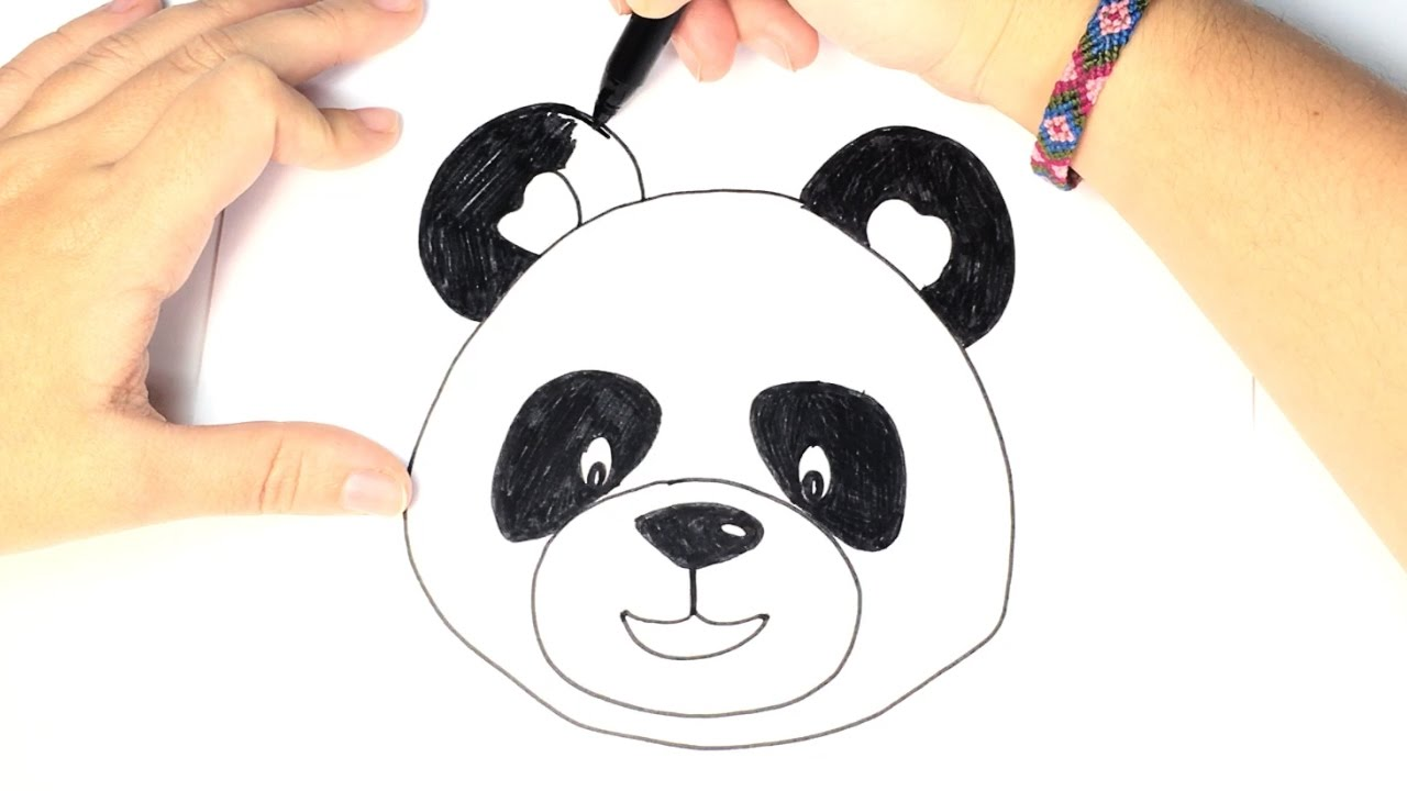 How To Draw A Panda For Kids Easy And Step By Step Youtube