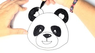 How to draw a Panda for Kids   Easy and Step by Step