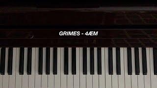 Grimes - 4ÆM (Piano Cover) [Sheet Music]