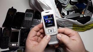 75 Телефонов из Германии за 25$ часть #1. nokia 3510, samsung, sony ericsson, w595,  sagem, siemens