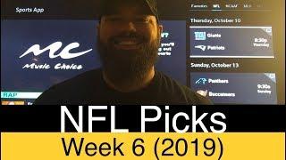 NFL Week 6 Picks (2019)   Expert Football Betting Predictions   ATS, O/U & Pick'em   DFS Injury Info