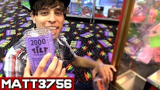 Winning Tickets in the Claw Machine ~ Arcade Game Jackpot Challenge Can We Win It? | Matt3756