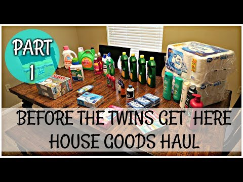STOCKING UP BEFORE THE TWINS GET HERE | Part 1 House Goods Haul
